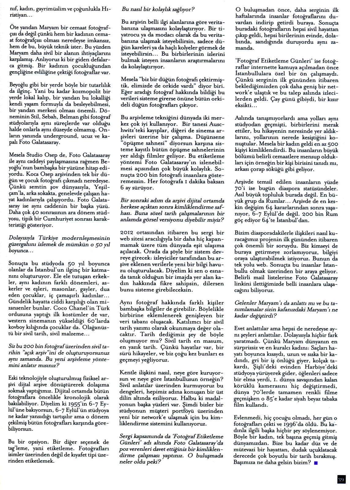 Interviews Archive Page 2 Of 4 Tayfun Serttaş